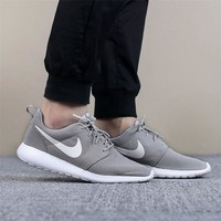 NiKE Roshe RUN Fashion Men Sport Casual Shoes Sneakers Grey