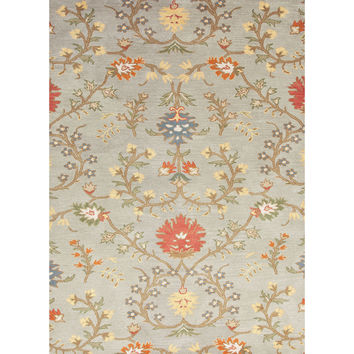 Jaipur Rugs Transitional Arts And Crafts Pattern Blue/Red Wool Area Rug PG01 (Rectangle)