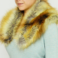 Faux Fur Stole FREE SHIPPING - Fox Faux Fur Scarf, Perfect Winter Accessory, Fashionable Winter Scarf, Faux Fur Stole