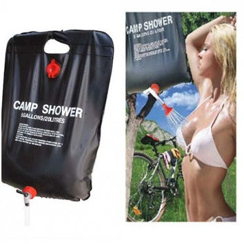 Outdoor Solar Energy Heated Camp Shower Bag