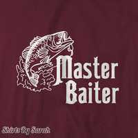 Funny Master Baiter Fishing T Shirt - Shirts For Fishermen Fish T-shirts Men's Women's Unisex Tees