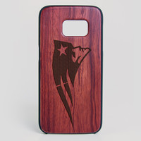 New England Patriots Galaxy S7 Edge Case - All Wood Everything