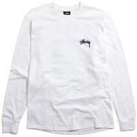 Wave Warp Longsleeve T-Shirt White