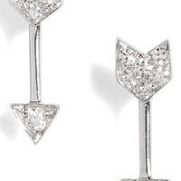 EF COLLECTION Diamond Arrow Stud Earrings | Nordstrom