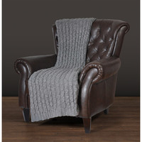 "Walmart: East End Living 50"" x 60"" Cable Knit Throw"
