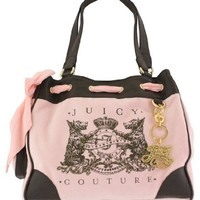Juicy Couture Scottie Bling Daydreamer Tote Handbag Purse ~ Pink/Brown In Color
