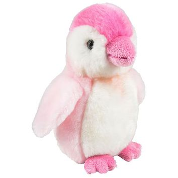 7 Inch Stuffed Pink Penguin Plush Sitting Animal Prism Collection