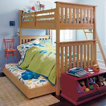 The Land of Nod | Kids' Bunk Beds: Kids Twin Natural Simple Bunk Bed in Bunk Beds