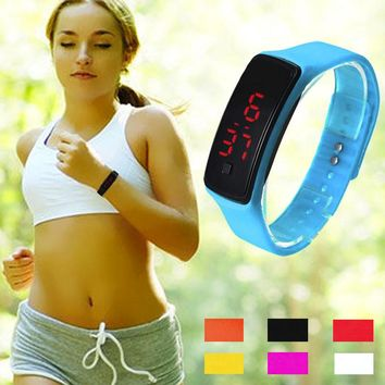 Fashion 11 color Men women red led watches Clock Silicone Women's Bracelet led watch LED Digital Girls Sports Wrist Watch Gift