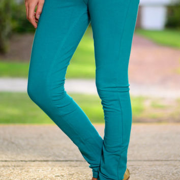 The Aiden Jeggings, Teal