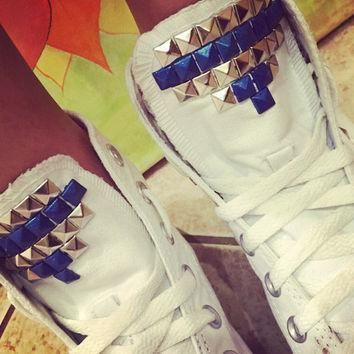 custom studded white converse all star high tops chuck taylors all sizes colors