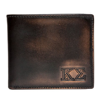 KAPPA SIGMA Bifold Wallet - Mens Wallet - Leather Wallet - Mens Leather Wallets - Kappa Sigma - Greek