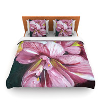 "Cathy Rodgers ""Pink Day Lily Blooms"" Pink Flower Lightweight Duvet Cover"