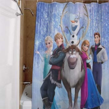 disney frozen, special custom, shower curtains, available size, amazing gift