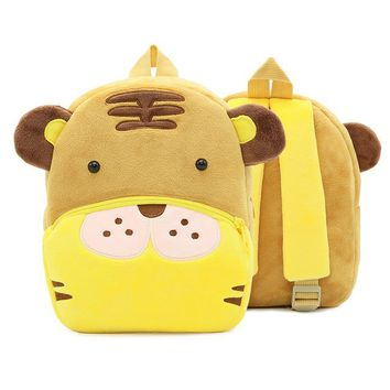 Toddler Backpack class Little Tiger Plush School Bag Cute Cartoon Animal Baby Backpack Gift Kids Boy Girl Toddler Children Schoolbag Kindergarten Bags AT_50_3