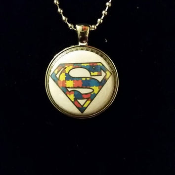 "Autism Awareness 1"" Pendant Necklace"