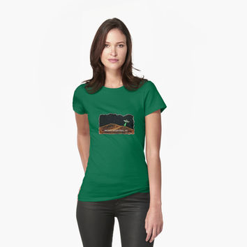 'Brown Mountain UFO' T-Shirt by Noble Bison
