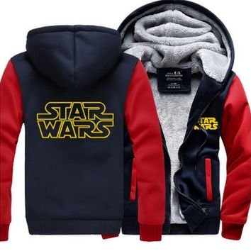 Darth Vader  Mens Funny Hoodie Star Wars Starwars The Force  thicken fleece jacket coat hoodies hoodie