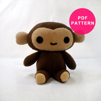 Plushie Sewing Pattern - Monkey Plush Pattern