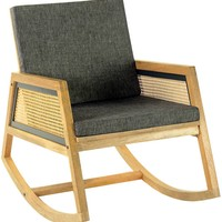 Ashton Rocker Mid-Century Modern Natural