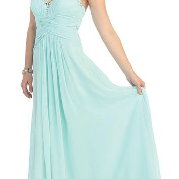 Plus Size Formal Bridesmaid Dress Evening Gown