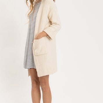 Rachel Cream Knit Thick Cardigan