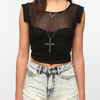 Urban Outfitters - Silence & Noise Mesh Crop Top