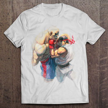 Street Fighter Sagat vs. Ryu Men's Video Game T-shirt