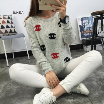 Chanel Knit Fashion CC Logo Top Sweater Pullover