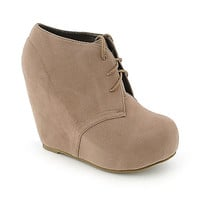 Shiekh Camilla-1 womens platform wedge ankle boot
