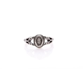 Antique Silver Plated Adjustable Ring