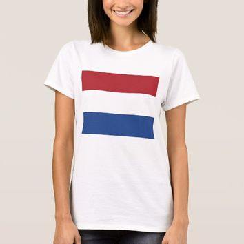 Women T Shirt with Flag of Netherlands