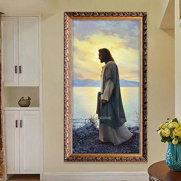 Jesus Christ Jesus Canvas Posters and Prints Wall Art Pictures for living room Home Decor cuadros decoracion Oil painting 165