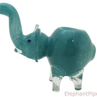 Sky Blue Elephant Pipe