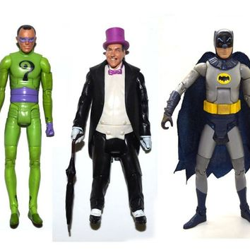 "Batman Dark Knight gift Christmas DC Universe Batman 1966 Tv Series Riddler Batman Penguin 6"" Loose Action Figure FREE SHIPPING AT_71_6"