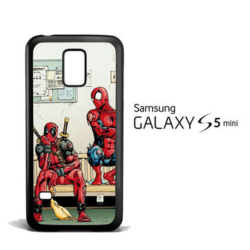 Funny Spiderman and Deadpool Samsung Galaxy S5 Mini Case
