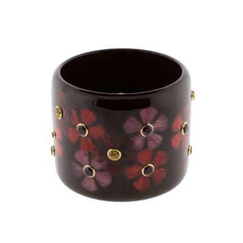 Burgundy Brown And Red Bakelite Bangle | Marissa Collections