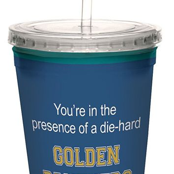 Tree-Free Greetings cc34704 Panthers College Basketball Artful Traveler Double-Walled Cool Cup with Reusable Straw, 16-Ounce