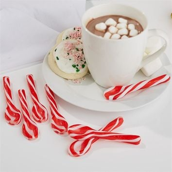 TWO'S COMPANY CANDY CANE SPOONS