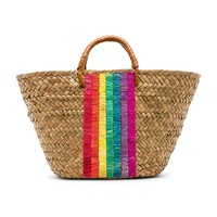 KAYU x REVOLVE St Tropez Leather Handle Tote in Rainbow | REVOLVE