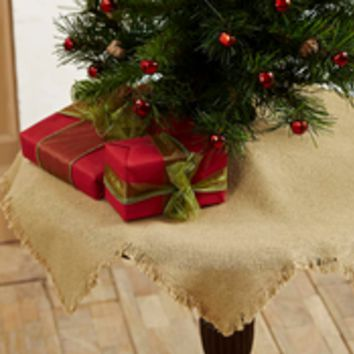 "21"" Burlap Natural Tree Skirt"