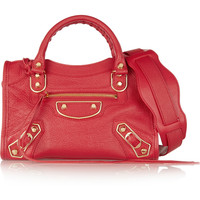 Balenciaga - Holiday Collection City mini textured-leather shoulder bag
