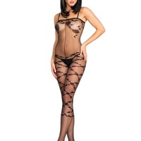 Be Wicked BWB98 Floral Design Bodystocking