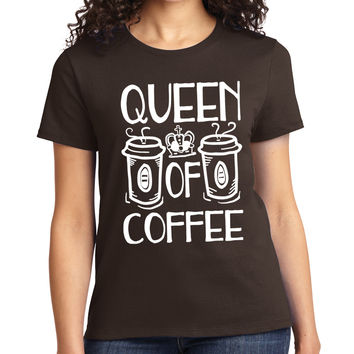 Queen Of Coffee Crewneck Tee