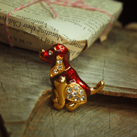 Puppy Brooch #5126