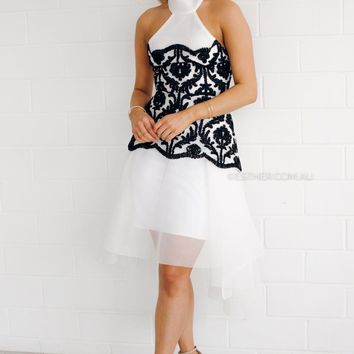heritage dress - monochrome