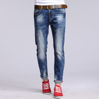 Men Slim Casual Pants Jeans [6528598211]