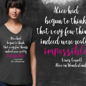 Impossible Alice In Wonderland Graphic T-shirt