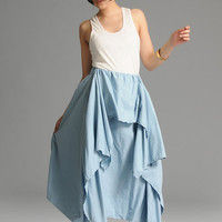 Sky blue cute anomalous skirt(more colour and size choice) -A1050
