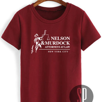 Daredevil Shirt Nelson & Murdock Attorneys at Law Unisex Size Tshirt